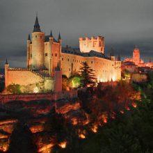 Замок Алькасар в Сеговии (Испания)