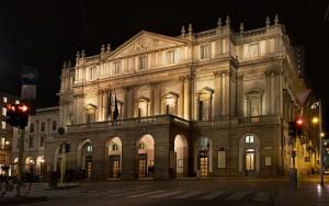 Оперный театр Ла Скала в центре Милана (Италия)